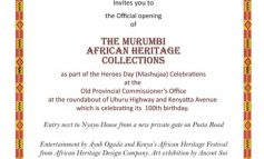 The Murumbi African Heritage Collection to continue till 2018