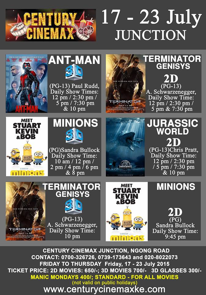 Movie Schedule 17th - 23rd July - Hangout