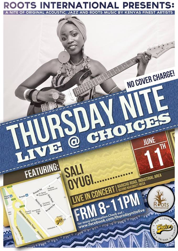 Thursday Nite Live at Choices featuring Sali Oyugi