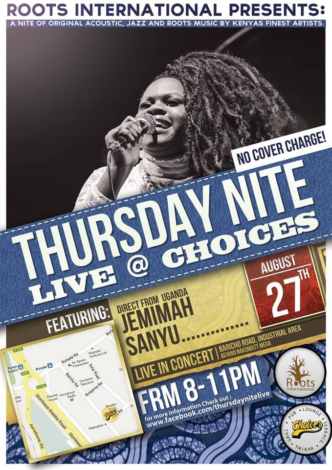 Jemimah Sanyu from Uganda In Concert at Choices