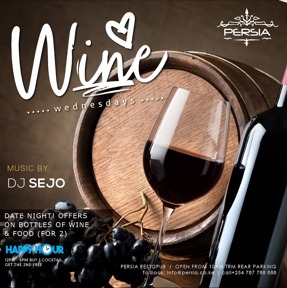 Wine Wednesday at club Persia