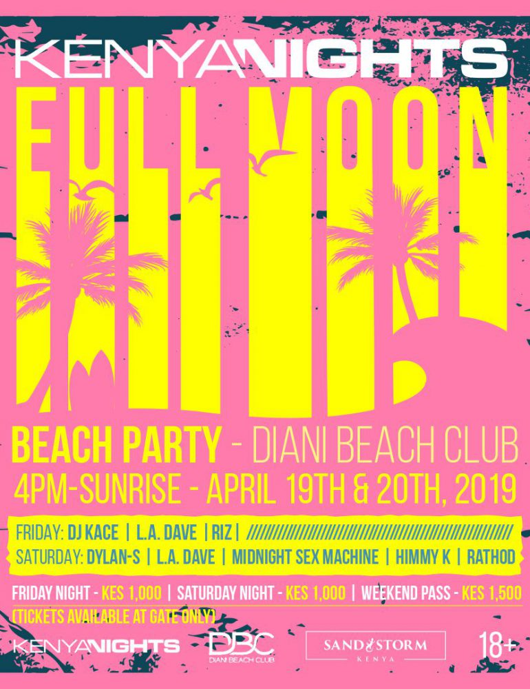 Kenya Nights Full Moon Beach Party