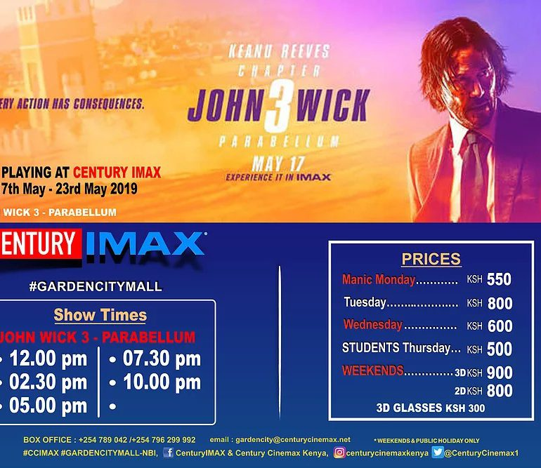 Here is the Imax Garden City Schedule 17th-23rd May - Hangout