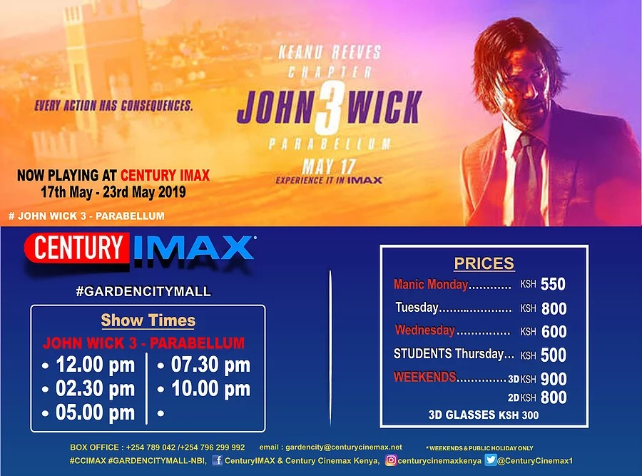 Imax Garden City Schedule 17th-23rd May