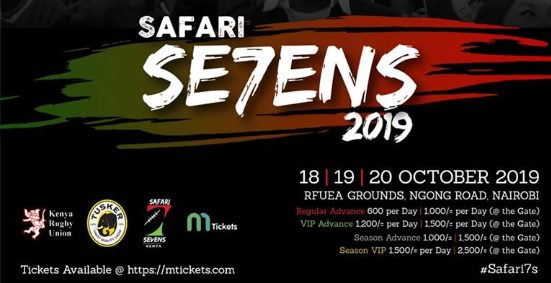 The 2019 edition of the Safari Sevens from 18th October